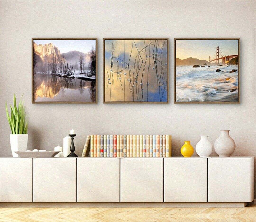 New set of 3 5050 mural canvas painting for living bedroom room