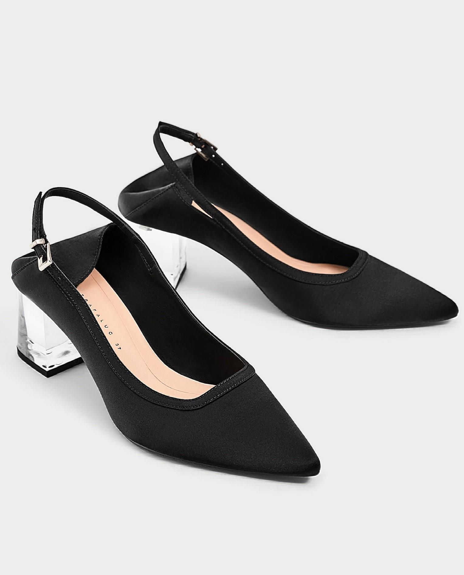 1f841f10a8f New! ZARA black slingback with clear heels