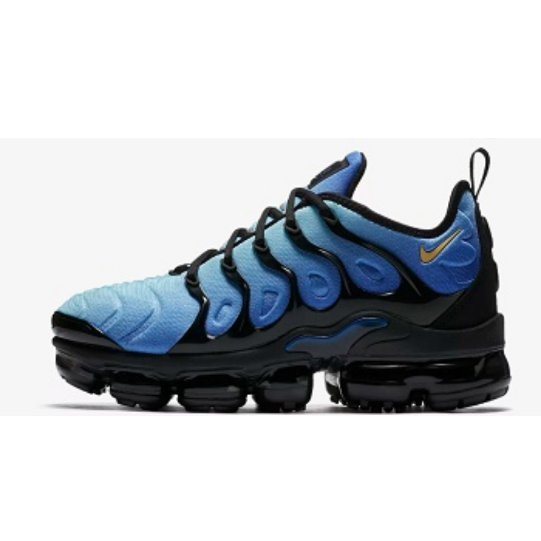 d96e8494dc Nike Air VaporMax Plus ( Black/Photo Blue), Men's Fashion, Footwear ...