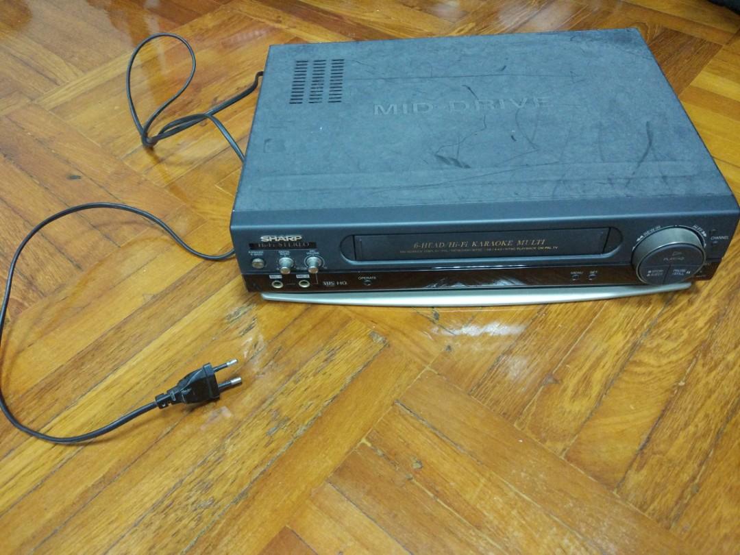 Original Sharp vc-mh72 VHS VCR multi-format six-head high-fidelity ...