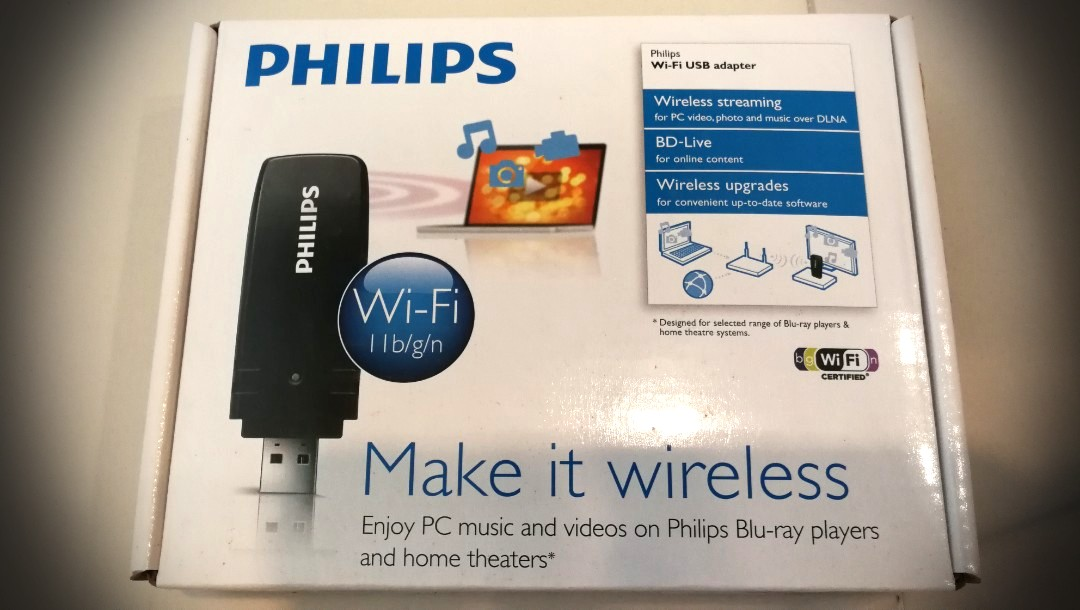 what is a wifi dongle for philips blu ray player