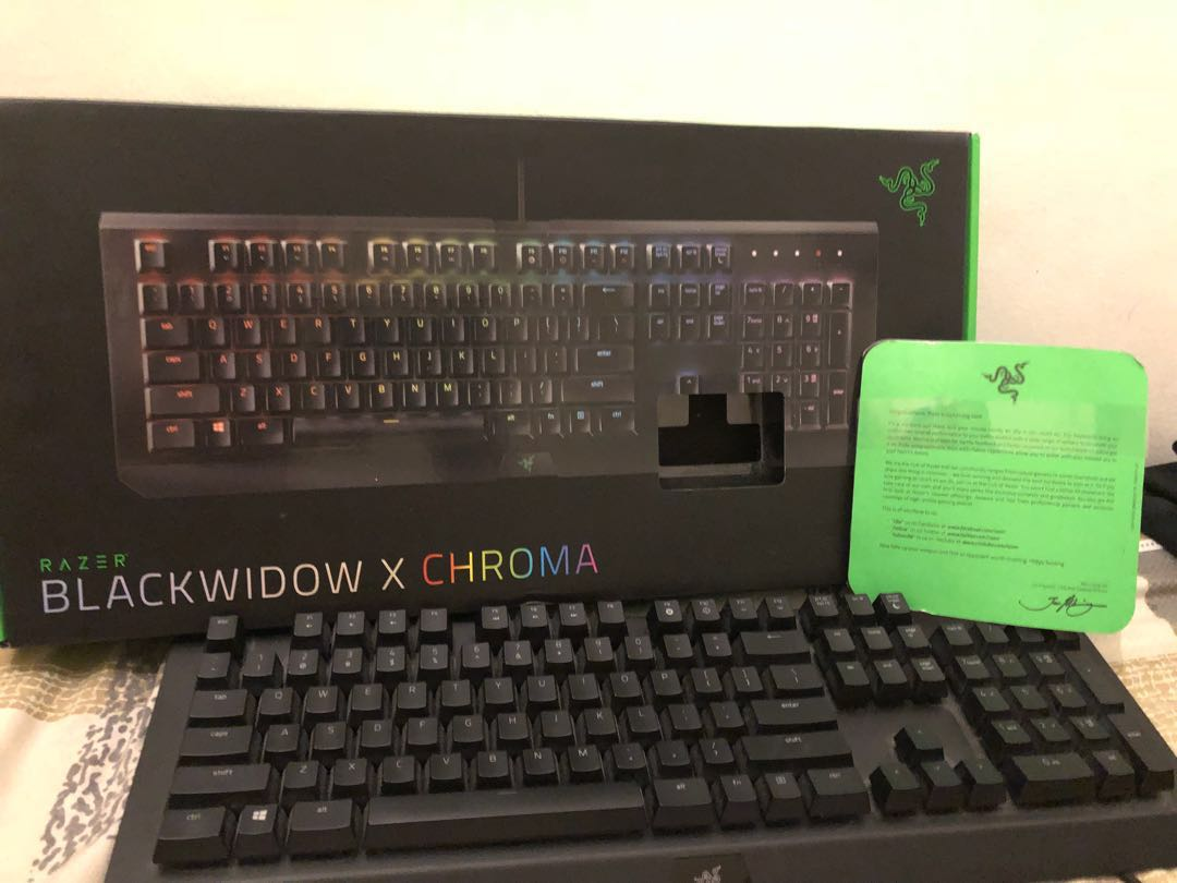 Razer Blackwidow X Chroma Keyboard Electronics Computer Parts Te Accessories On Carousell