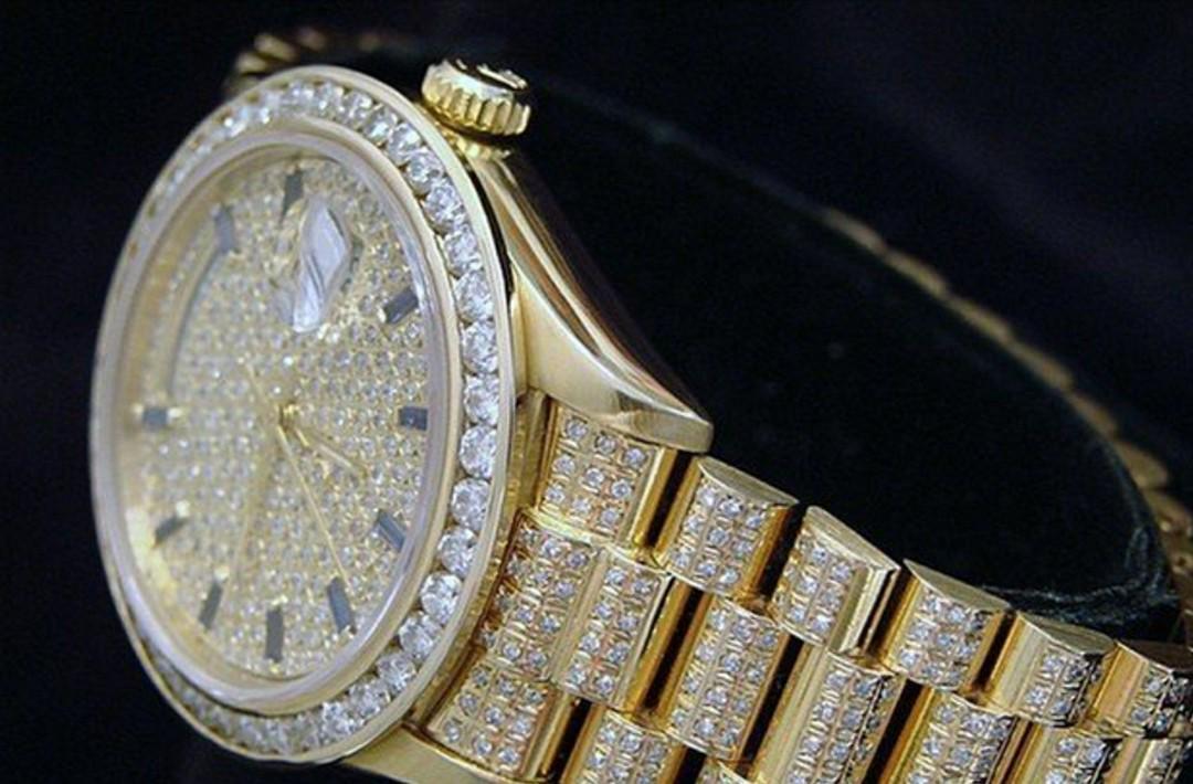 Rolex 18k Gold Day-date President Full Diamond