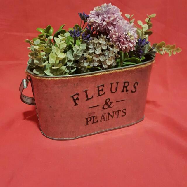 Rustic Flower Pot Gardening Pots