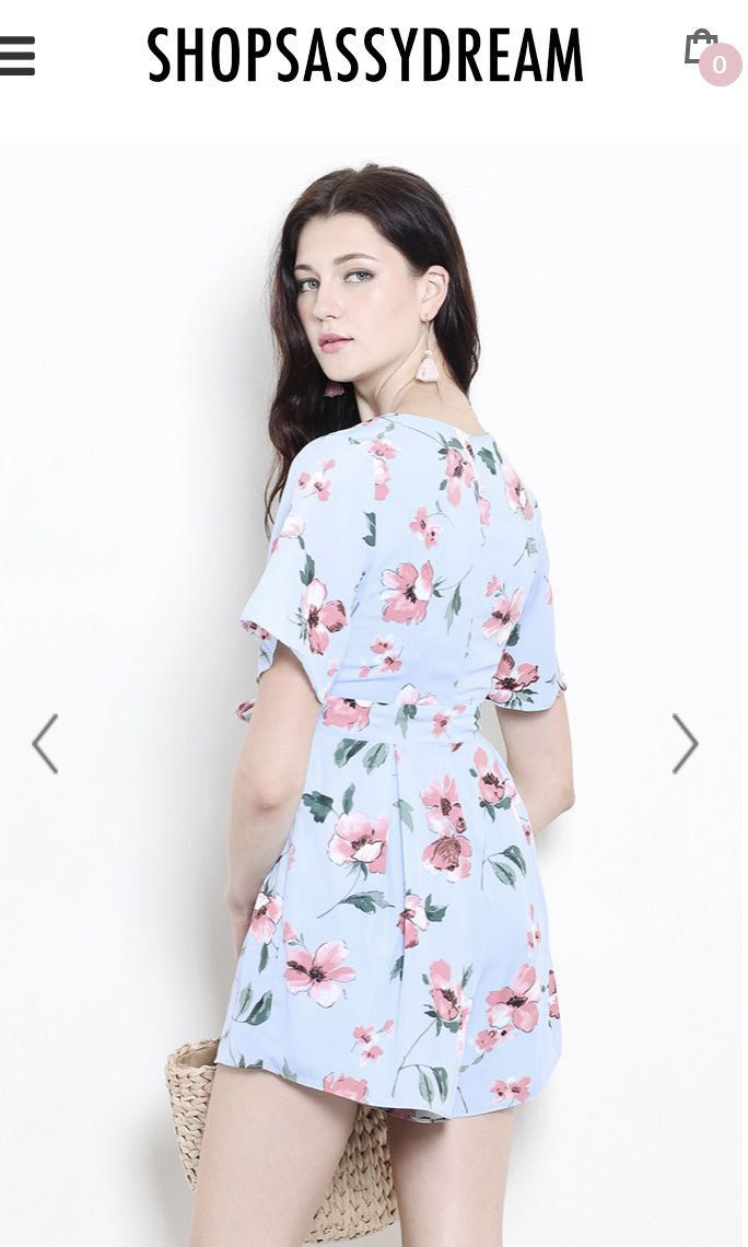 27f9b22f340  SALE   SHOPSASSYDREAM  ANNA PLAYSUIT MINT FLORAL