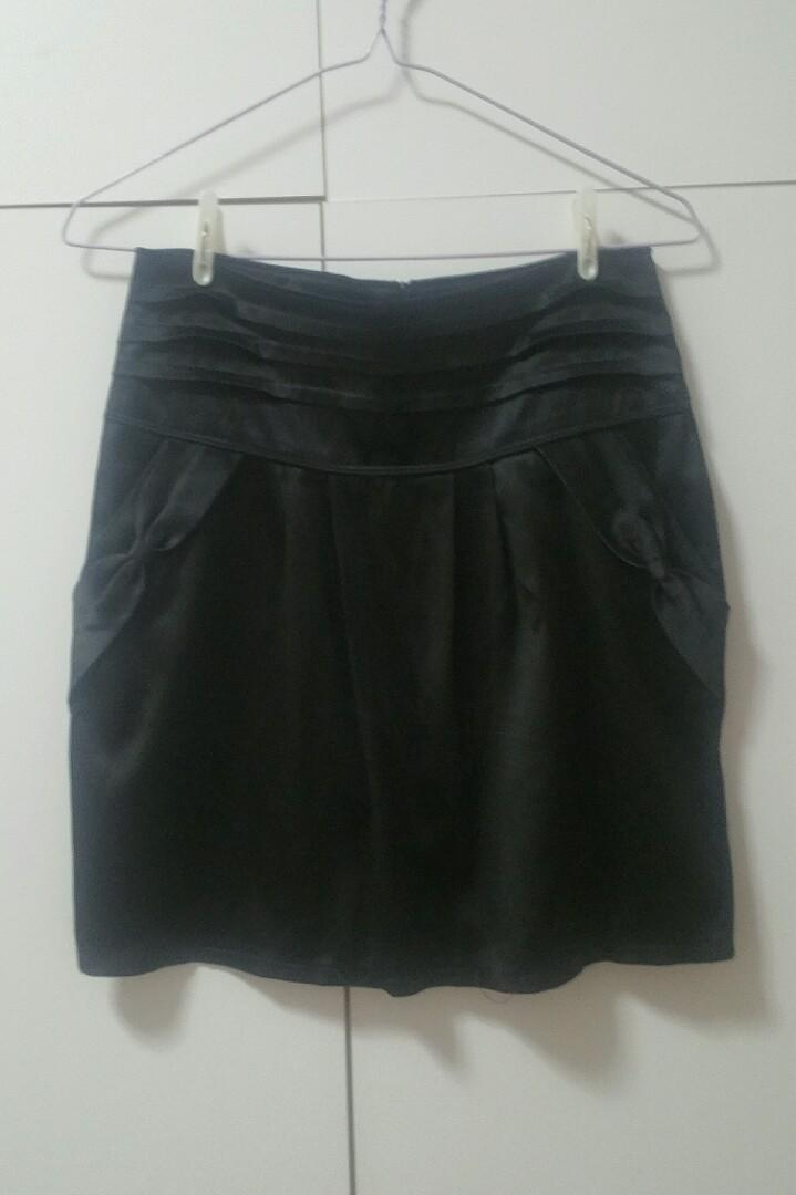 Satin Black Skirt