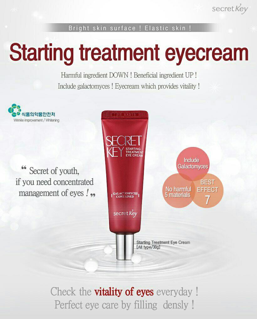 Secret Key Snail Eye Cream 30gr Original Spec Dan Daftar Harga Treatment 50gr Photo