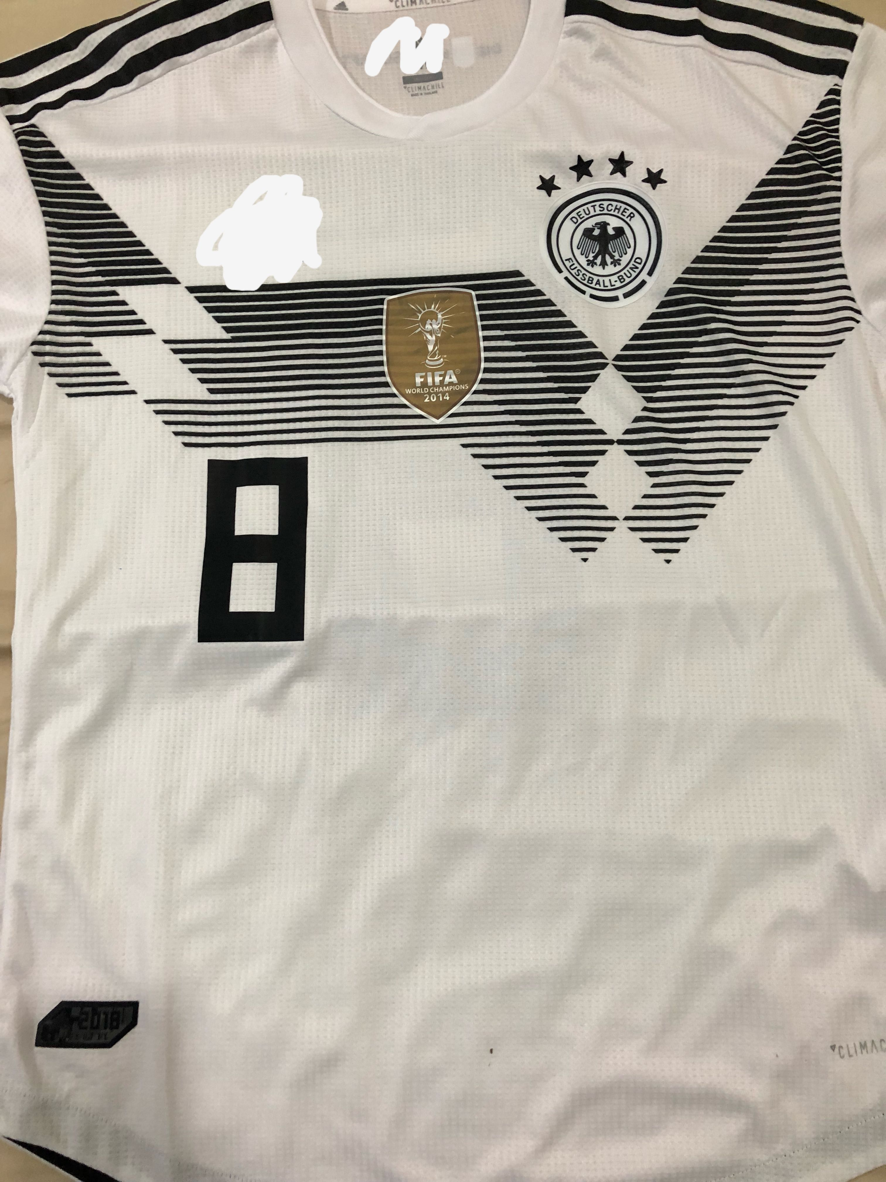 reputable site 42e7b 5eff6 Size M Germany WC home jersey with Kroos No.8