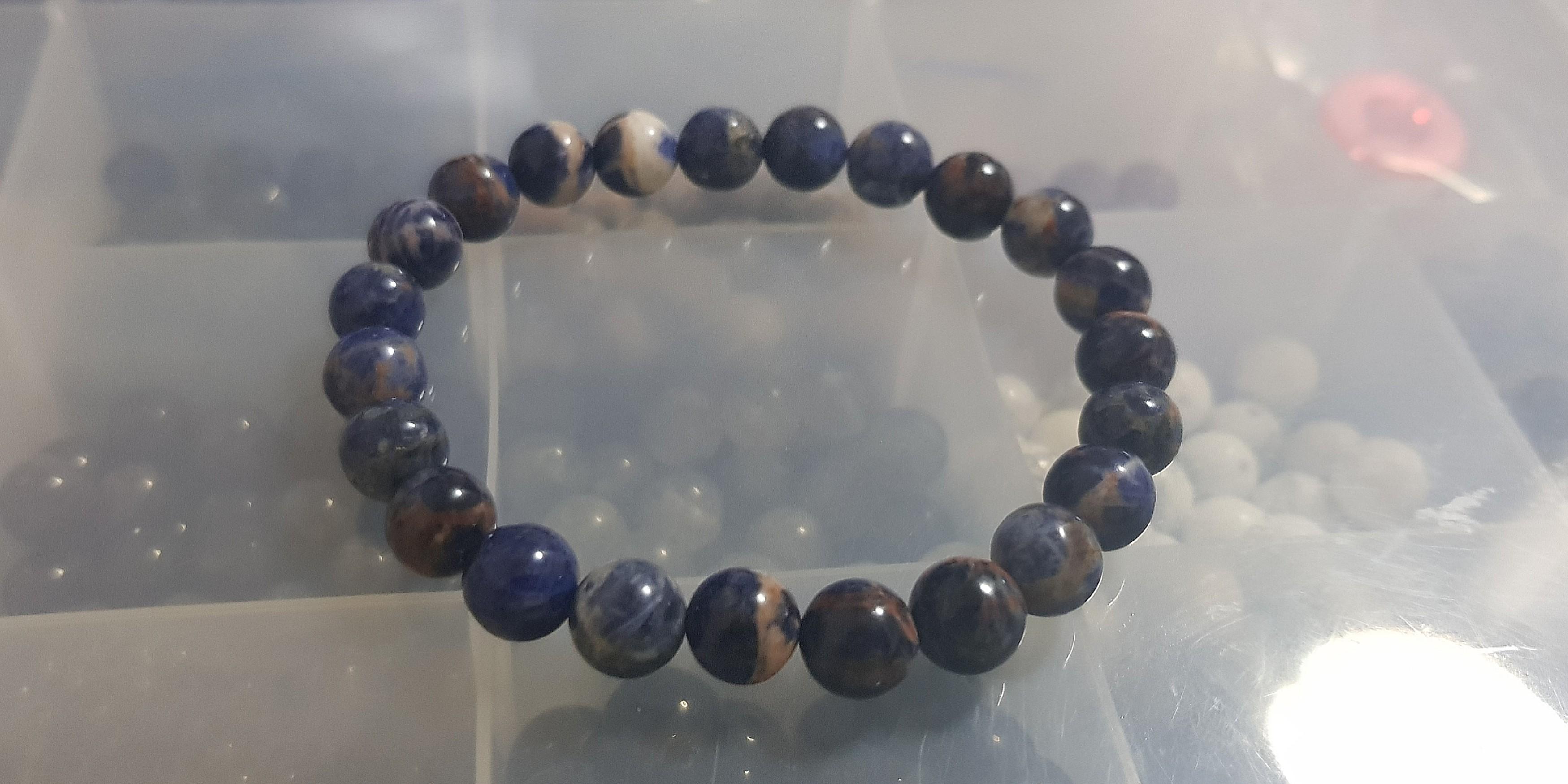 14ff2200612 Sodalite Bracelet 苏打石手链, Women's Fashion, Jewellery, Bracelets ...