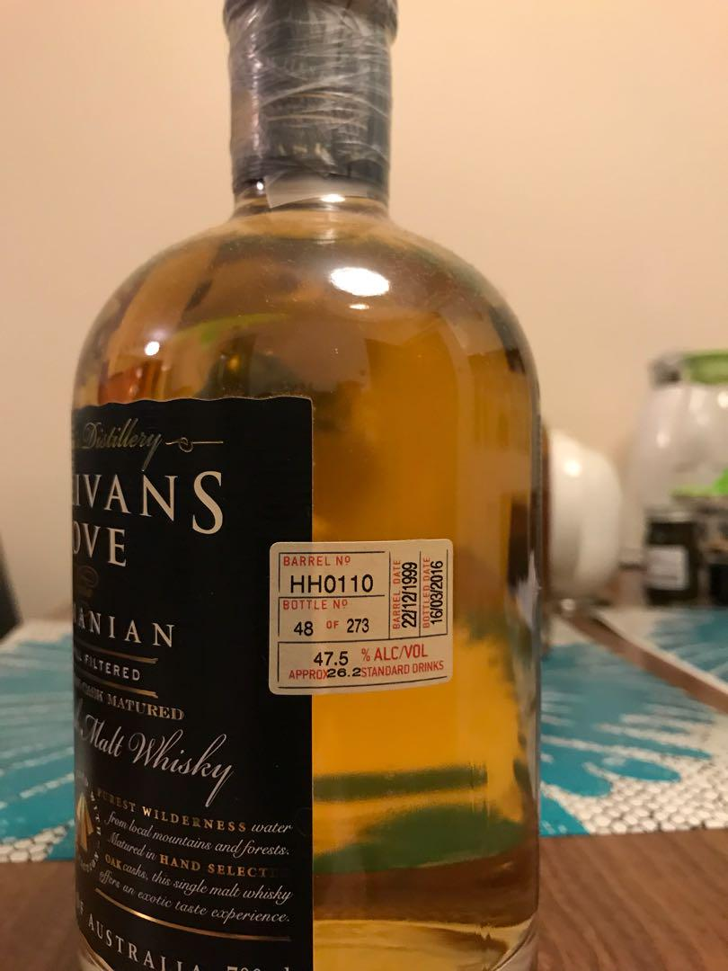 Sullivans Cove American Oak Whisky Aged 15 Years