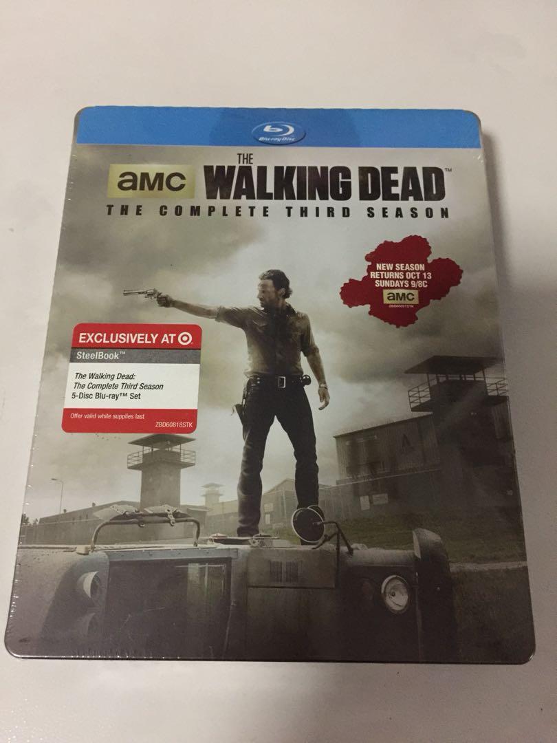 The Walking Dead Season 3 Steelbook Bluray Target Exclusive