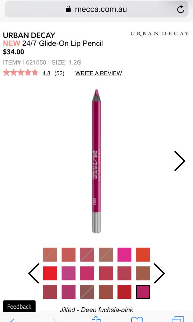 URBAN DECAY. JILTED. 24/7 Glide-On Lip Pencil