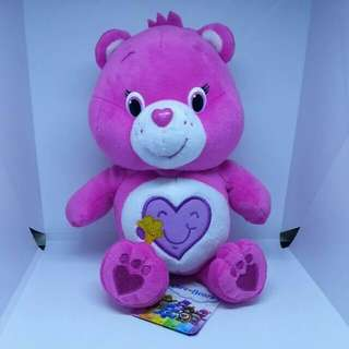 "Brand New 7"" Carebears Care Bears Baby Hugs Heart with a Star Inside Female Bear Plush Stuffed Soft Toy Beanbag (Pink)"