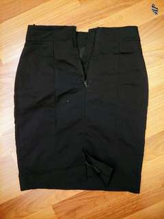 H&M Black Office Pencil Skirt