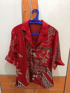 Batik Kemeja Wanita ukuran S fit to M