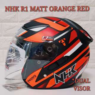 NHK Helmet R1 MATT ORANGE RED
