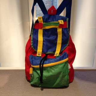 LF LOOKING FOR: Benetton Color Blocked Backpack Rucksack