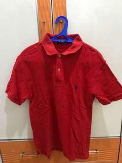 Polo Shirt Merah Laki2