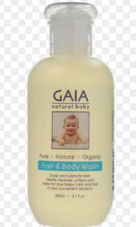 Gaia Natural Baby Hair and Body Wash