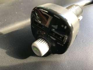 車用 藍芽聽歌 充電 USB線 火咀