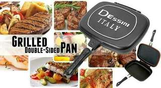 Double sided grilled pan