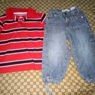Baby Fox Pants & Garanimals Top(Size 2-3y/o)
