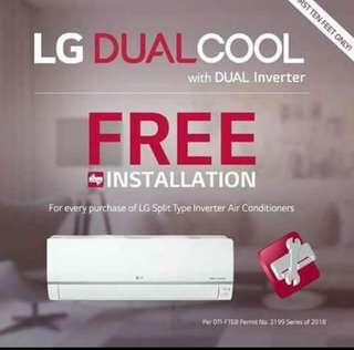 Lg aircon inverter spit type 1hp