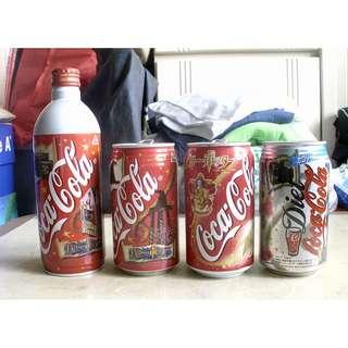 日本可口可樂哈利波特鋁樽罐一套