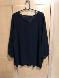 Plus size blouse in black