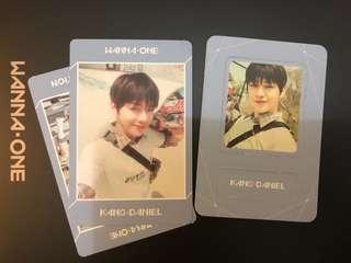 Kang Daniel Wanna One 小卡 一套兩張