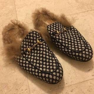9065170f7df last year. Gucci Princetown Fur Sandals