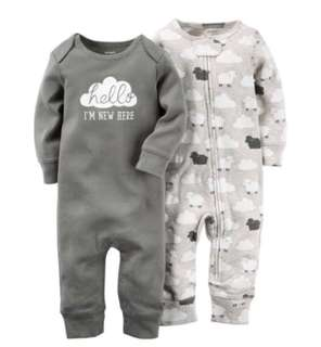 🚚 *9M* Brand New Carter's Babysoft Coveralls For Baby Boy