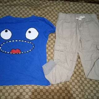 Cat&Jack Jogger  Pants and Topfor him(Size 4-5y/o)