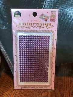 紫色閃石貼紙 Purple Rhinestone Sticker