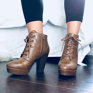 REDUCED Brown booties