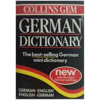 COLLINS GEM GERMAN MINI DICTIONARY (625 pages)