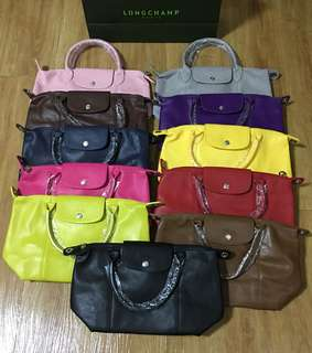 Longchamp leather bag with sling
