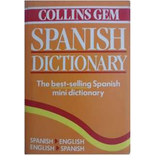 COLLINS GEM SPANISH MINI DICTIONARY (622 pages)