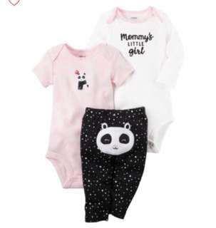 🚚 *12M* Brand New Carter's 3-Piece Little Character Set For Baby Girl