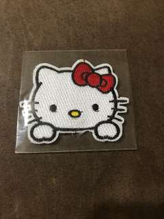 Hello kitty iron on patch