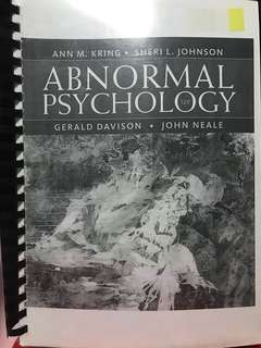 🚚 PL3236/ PY3103 Textbook Abnormal Psychology 12th Ed.