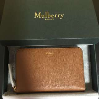 Mulberry Grained Leather Medium Zip-around Wallet
