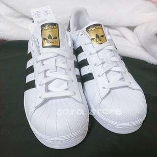 🚚 〖全新正品〗adidas superstar 黑白 金標 休閒鞋 復古鞋 女鞋 C77154