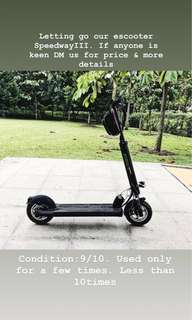 Extream Plus Electric Scooter Speedway III 26ah 52V