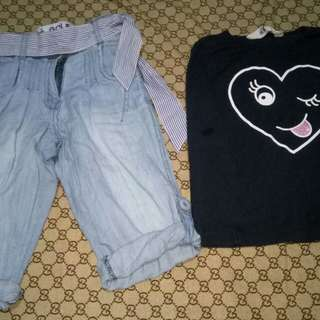 Take H&M Top and Pants for her(Size 2-3y/o)