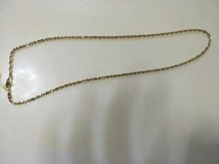 Rope necklaces 18k saudi 18 inches