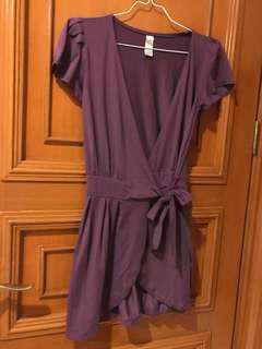 Purple kimono style top