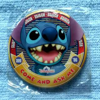 Disney 2006 Stitch (Come and Ask Me) Button/Pin/Badge