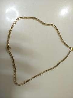 Japan design necklace 20 inche 18k saudi gold