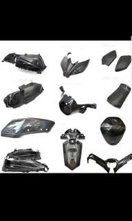 XMAX CARBON FIBRE PARTS